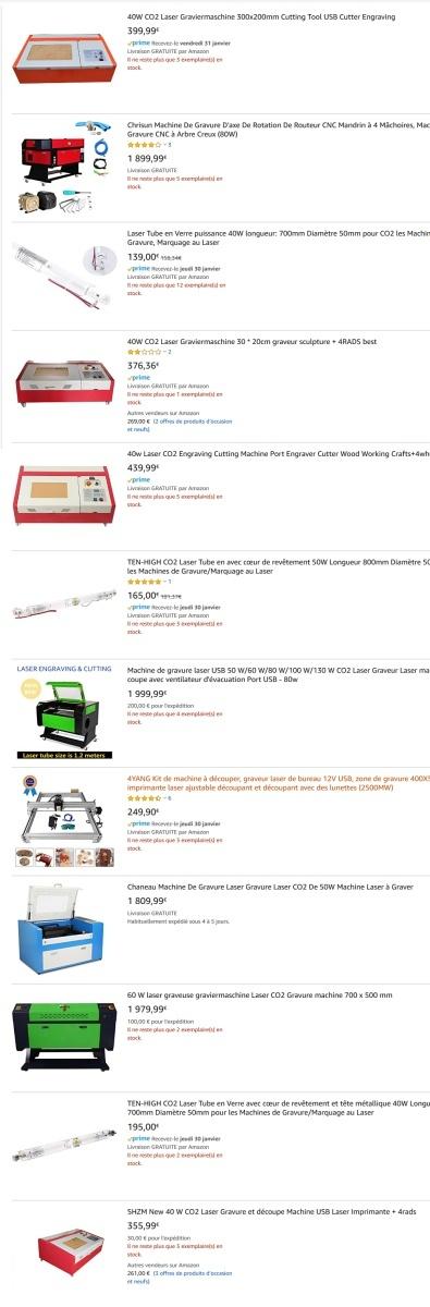 prix k40 laser